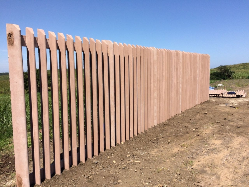 progress on the fence