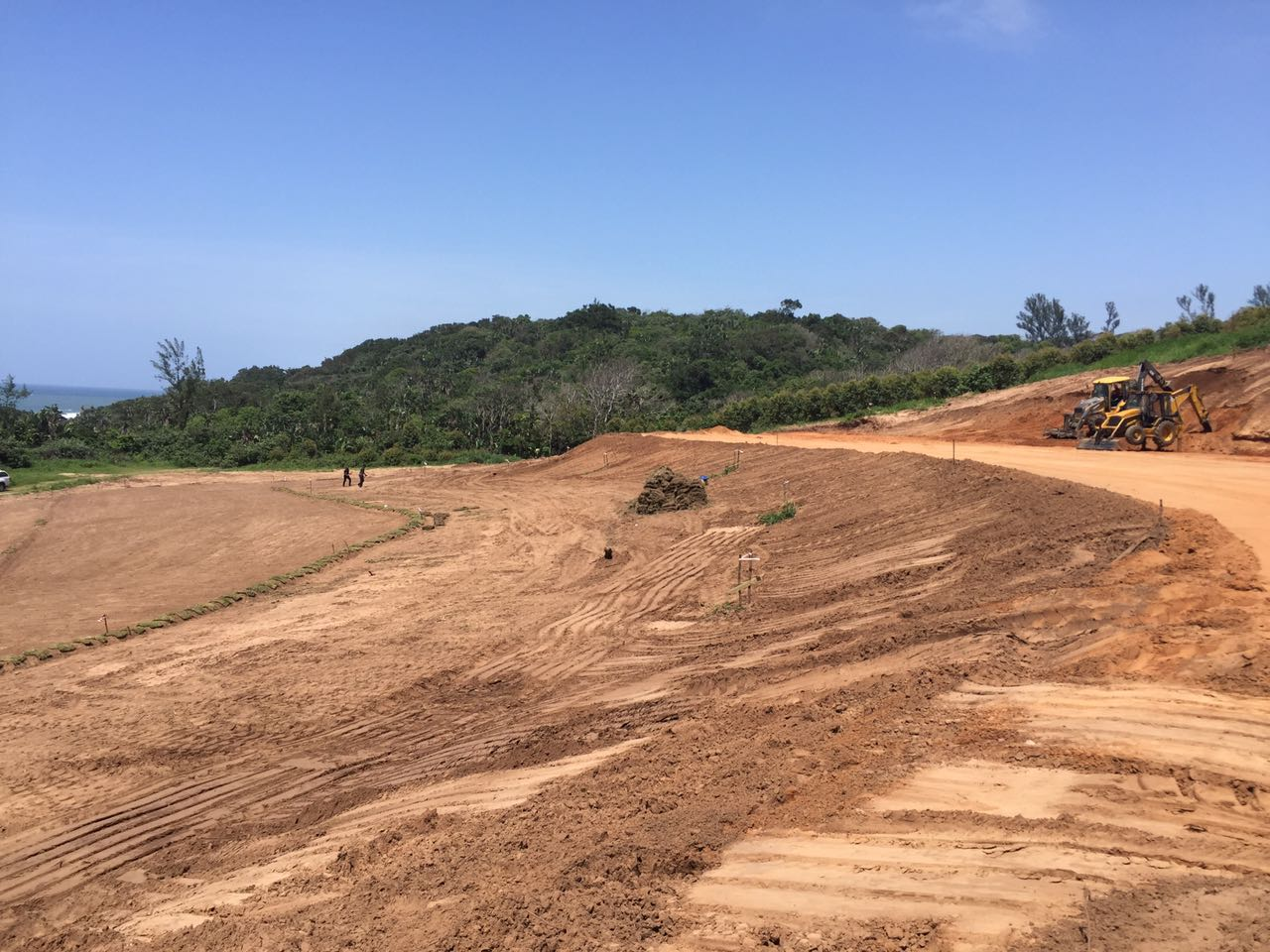 Amphitheater progress at Blythedale Coastal Resort