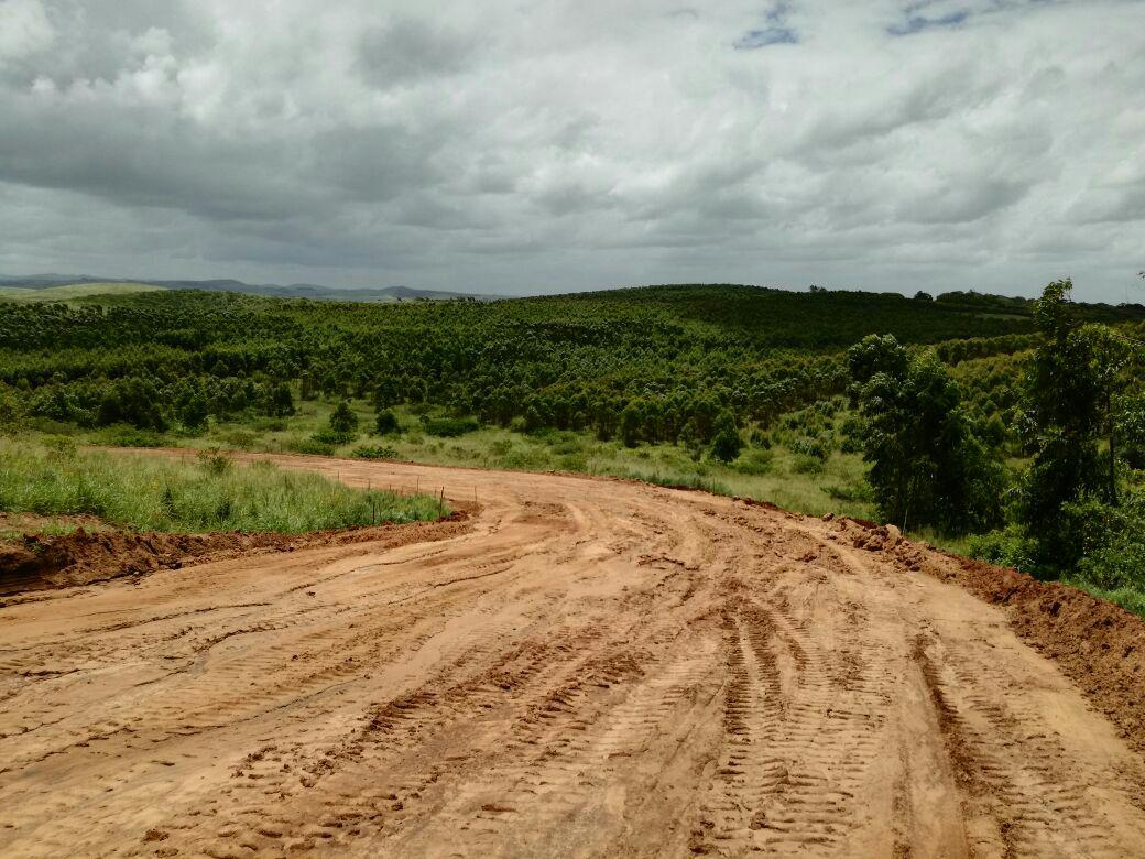 Progress of the road works at Blythedale