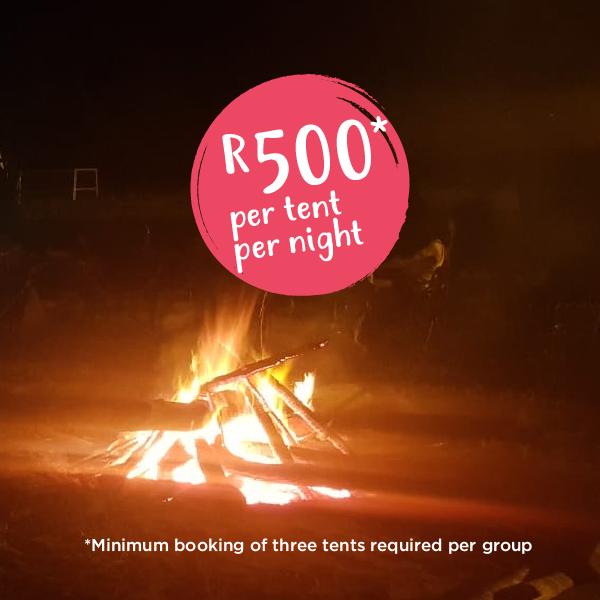 R500* per tent